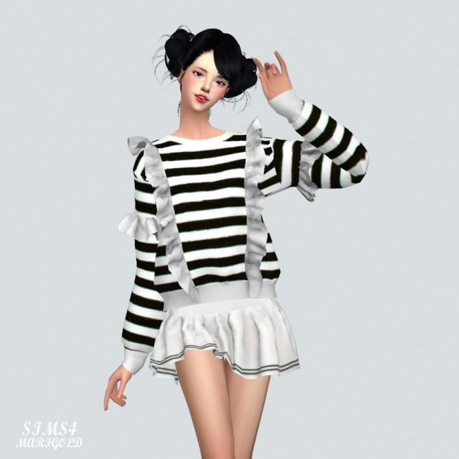 Sims 4 Frill Sweatshirt at Marigold