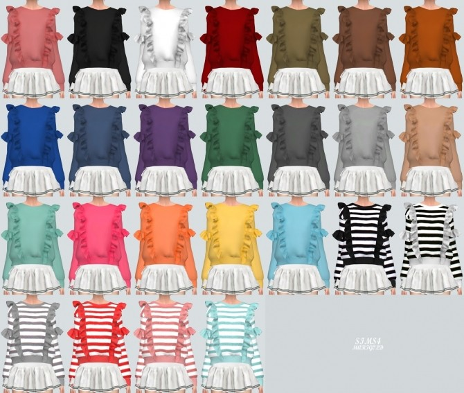 Frill Sweatshirt at Marigold image 2261 670x567 Sims 4 Updates