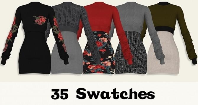 Yuki Sweater Dress at Lumy Sims image 227 670x354 Sims 4 Updates