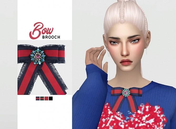 Sims 4 Bow Brooch at Waekey