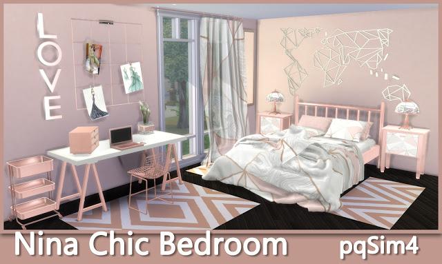 Nina Chic Bedroom At Pqsims4 187 Sims 4 Updates