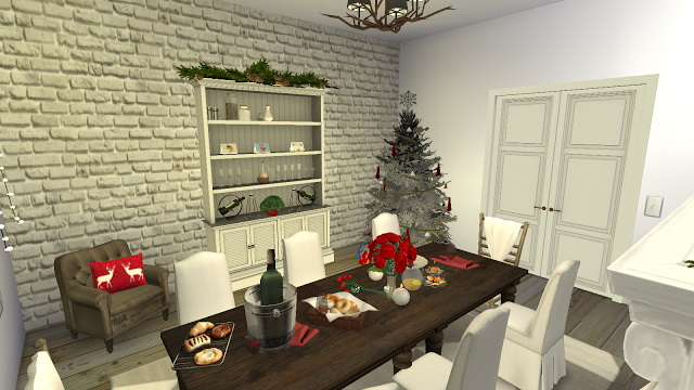 Octavia Holiday decorated Dining Room at Pandasht Productions image 2313 Sims 4 Updates