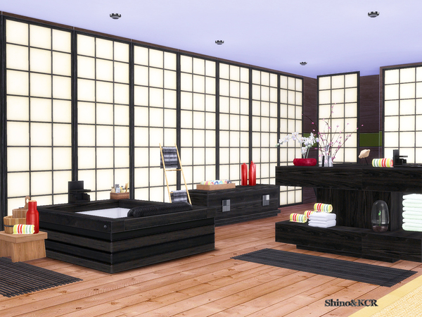 Japan Bathroom by ShinoKCR at TSR image 2315 Sims 4 Updates
