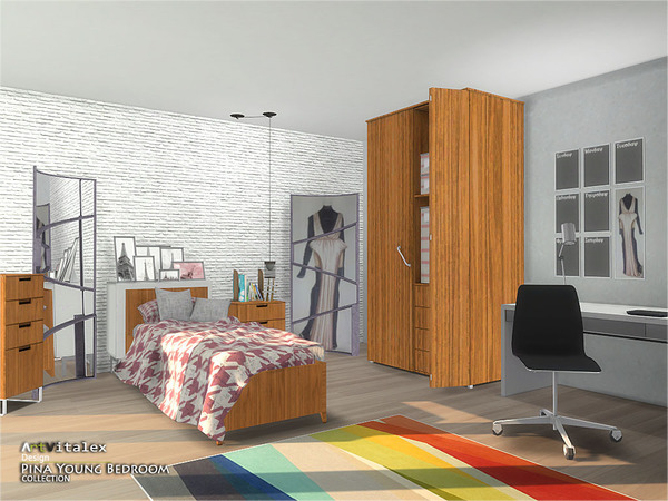 Pina Young Bedroom by ArtVitalex at TSR image 2337 Sims 4 Updates