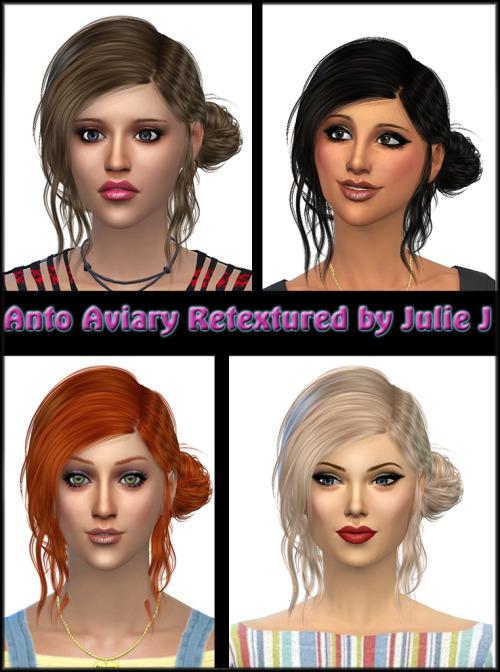 Sims 4 Anto Aviary Hair Retextured at Julietoon – Julie J