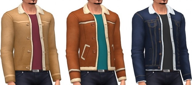 Men's Shearling Jackets at Marvin Sims image 2371 670x298 Sims 4 Updates