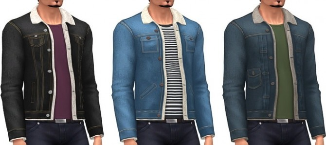 Men's Shearling Jackets at Marvin Sims image 2381 670x298 Sims 4 Updates