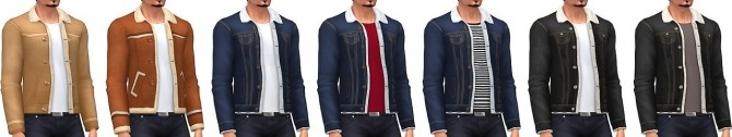 Men's Shearling Jackets at Marvin Sims image 2391 670x126 Sims 4 Updates