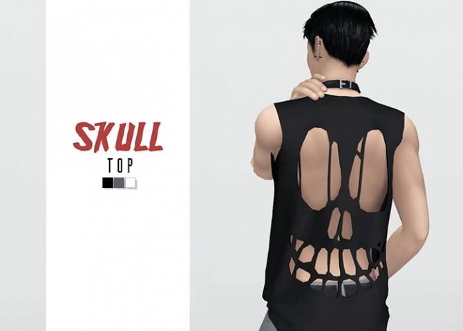 Sims 4 Skull Top at Waekey