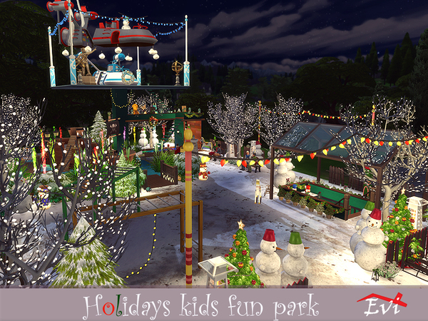 Sims 4 Holidays kids fun park by evi at TSR