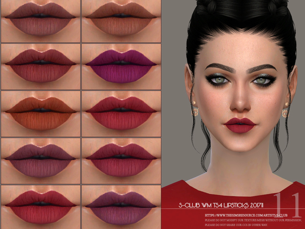 Sims 4 Lipstick 201711 by S Club WM at TSR