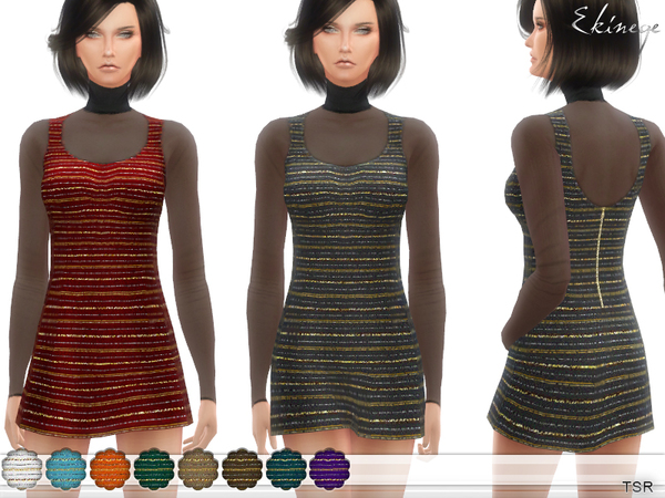 Mini Dress With Mesh Top by ekinege at TSR image 2426 Sims 4 Updates