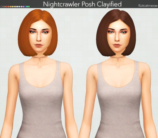 Sims 4 Nightcrawler Posh Hair Clayified at KotCatMeow