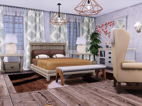 Sims 4 Sea Paradise house by MychQQQ at TSR