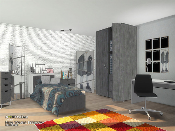 Pina Young Bedroom by ArtVitalex at TSR image 2437 Sims 4 Updates