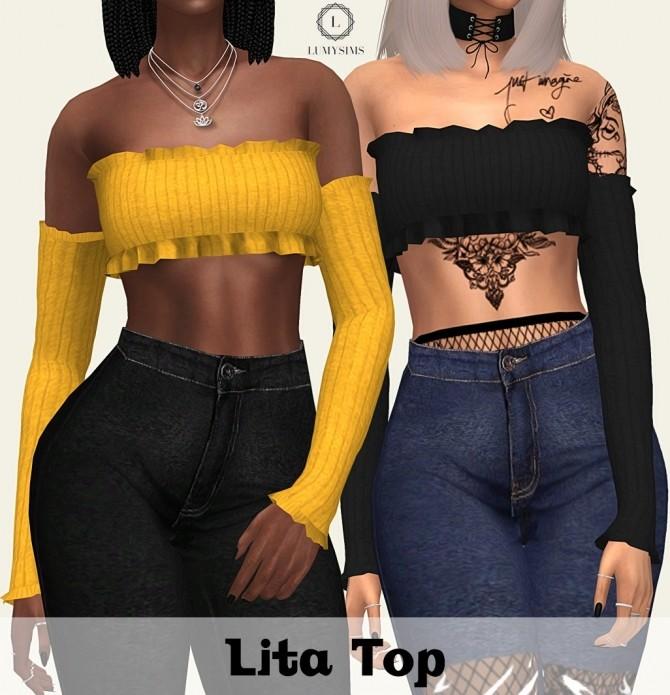 Lita Top at Lumy Sims image 2503 670x695 Sims 4 Updates