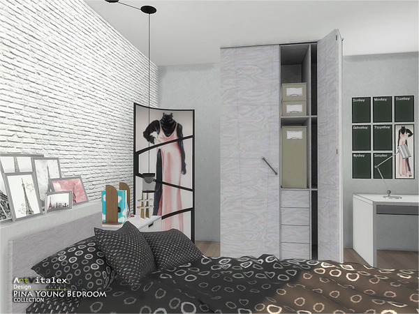 Pina Young Bedroom by ArtVitalex at TSR image 2538 Sims 4 Updates