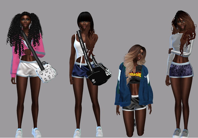 Booty Sport Shorts at Teenageeaglerunner image 2541 Sims 4 Updates