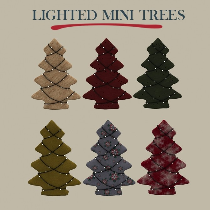 Sims 4 Lighted Mini Tree at Leo Sims