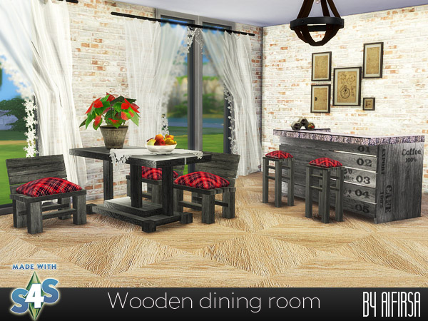 Wooden dining room at Aifirsa image 2563 Sims 4 Updates