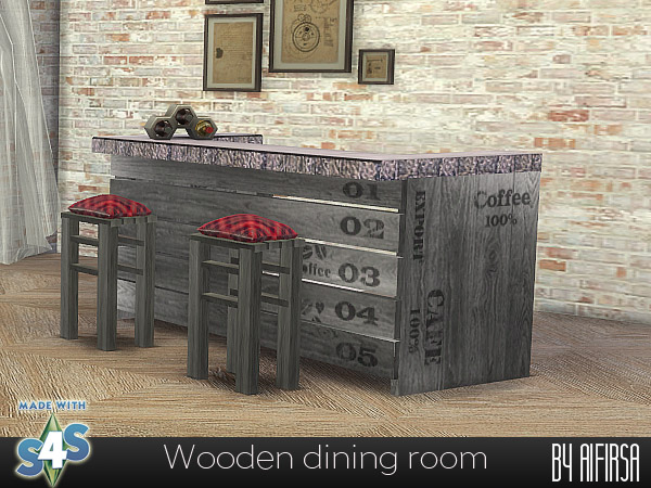 Wooden dining room at Aifirsa image 2574 Sims 4 Updates
