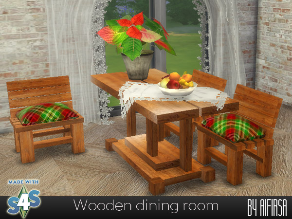 Wooden dining room at Aifirsa image 2584 Sims 4 Updates