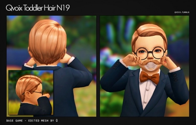 Sims 4 Hair N19 T at qvoix – escaping reality