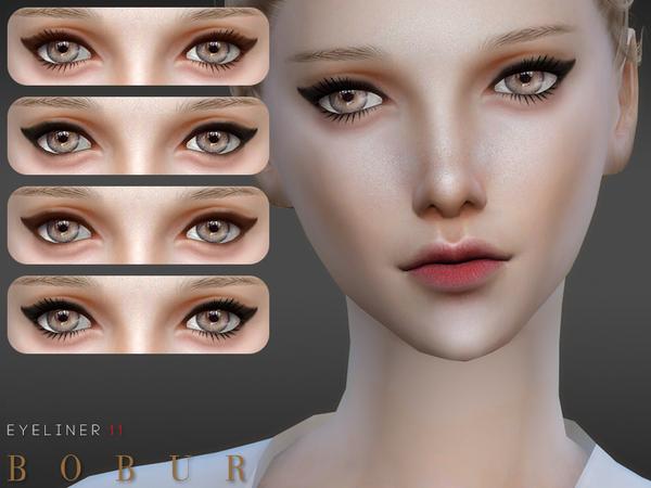 Sims 4 Eyeliner 11 by Bobur3 at TSR