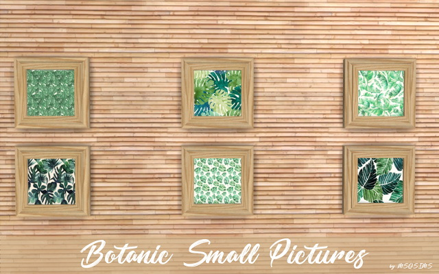 Sims 4 Botanic small pictures at MSQ Sims