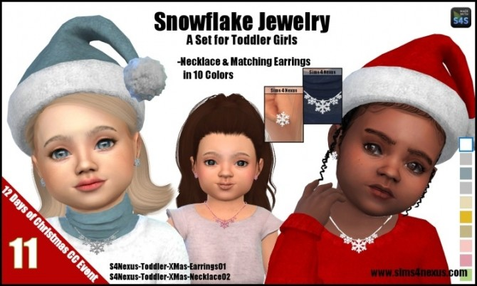 Snowflake necklace and matching earrings at Sims 4 Nexus image 262 670x402 Sims 4 Updates