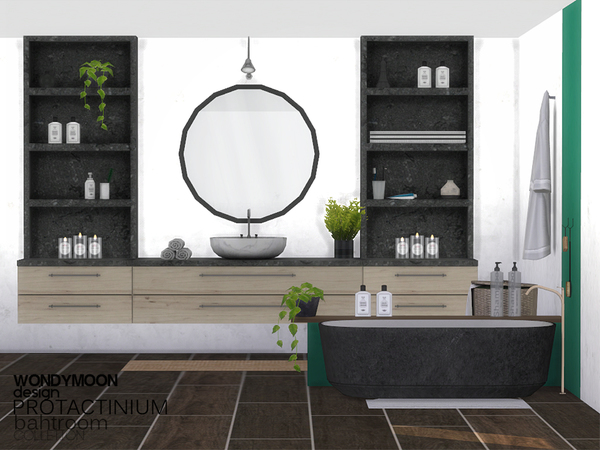 Protactinium Bathroom by wondymoon at TSR image 2626 Sims 4 Updates
