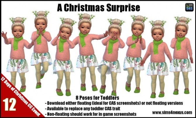 Sims 4 A Christmas Surprise poses by SamanthaGump at Sims 4 Nexus