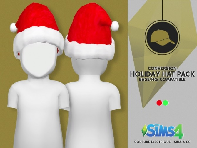HOLIDAY HAT PACK by Thiago Mitchell at Coupure Electrique image 2631 670x503 Sims 4 Updates