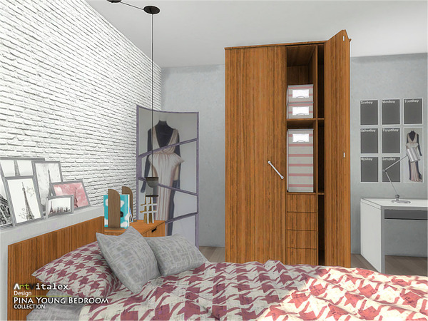 Pina Young Bedroom by ArtVitalex at TSR image 2637 Sims 4 Updates