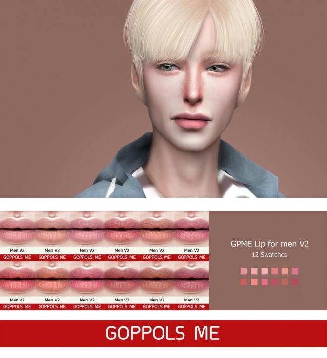 Sims 4 GPME Lips for men V2 at GOPPOLS Me