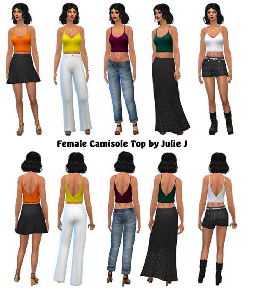 Sims 4 Camisole Top at Julietoon – Julie J