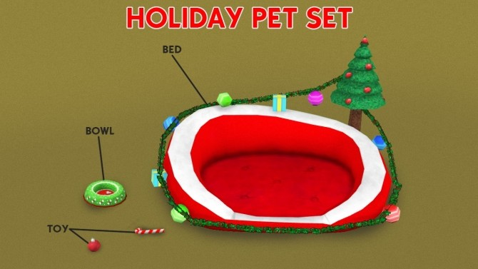 Sims 4 HOLIDAY PET SET by Thiago Mitchell at REDHEADSIMS