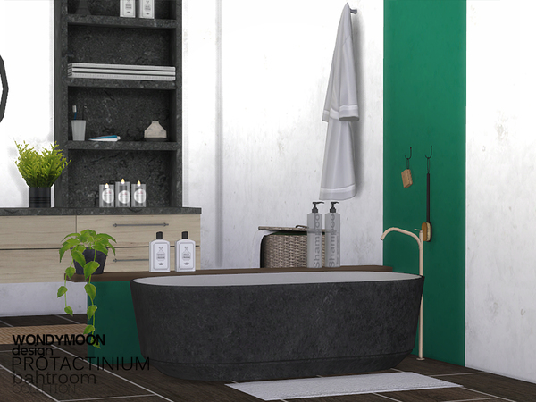 Sims 4 Protactinium Bathroom by wondymoon at TSR