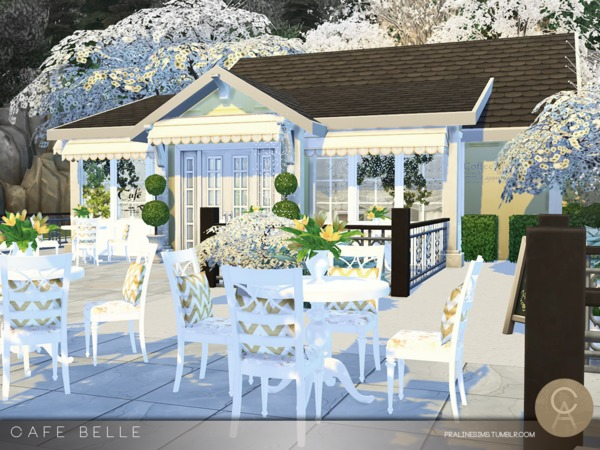 Sims 4 Cafe Belle by Pralinesims at TSR