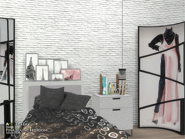 Pina Young Bedroom by ArtVitalex at TSR image 2737 Sims 4 Updates