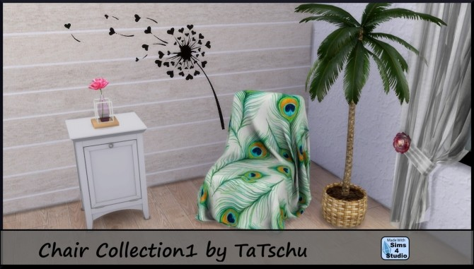 Sims 4 Chair Collection at TaTschu`s Sims4 CC