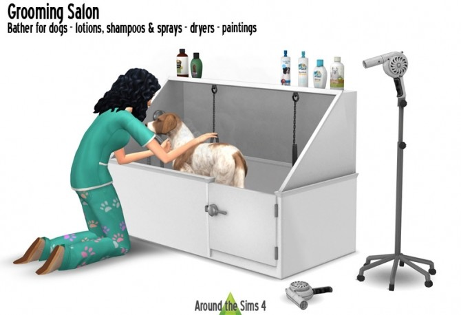 Sims 4 Grooming Salon at Around the Sims 4