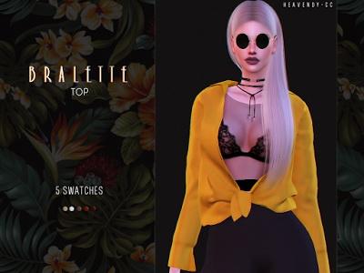 Sims 4 Bralette Top by EnriqueSims at Heavendy cc