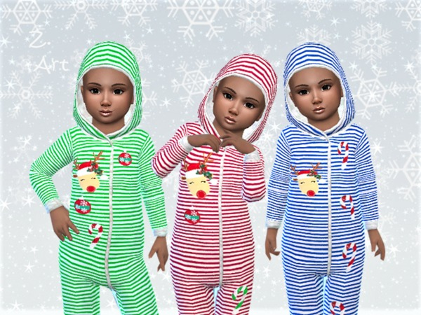 Sims 4 WinterbabeZ 06 cuddly pajamas by Zuckerschnute20 at TSR