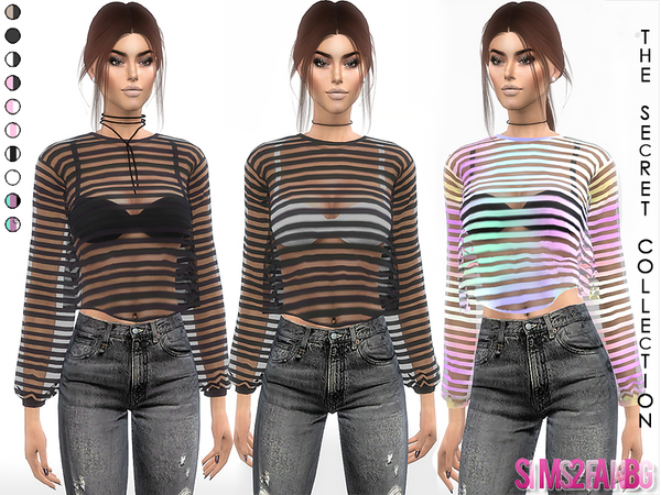 Sims 4 346 Transparent Top With Bra by sims2fanbg at TSR