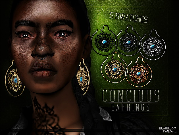 Sims 4 Concious Earrings at Blahberry Pancake