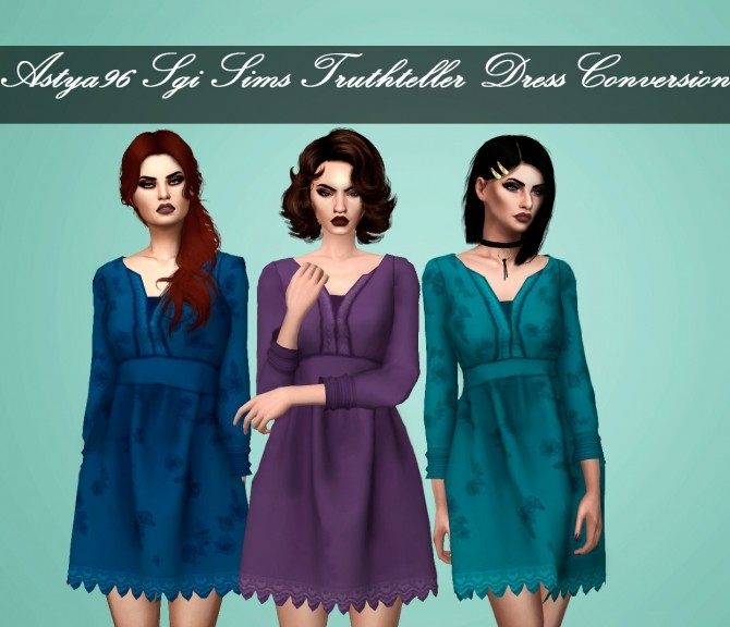 SgiSims Truthteller Dress Conversion at Astya96 image 2921 670x576 Sims 4 Updates