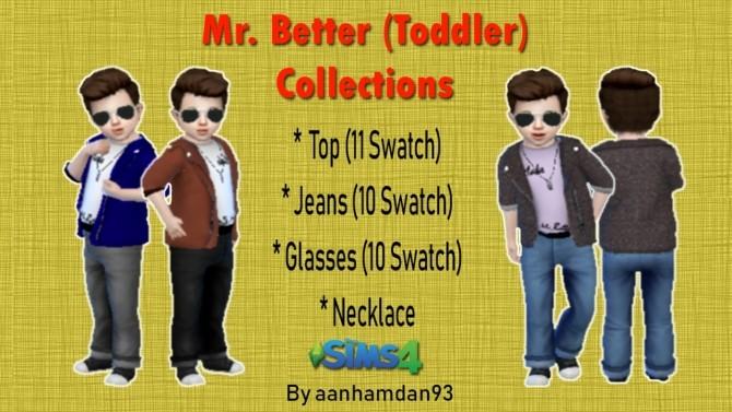 Sims 4 Mr. Better (Toddler) Collections at Aan Hamdan Simmer93