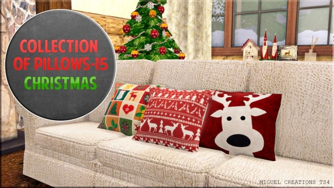 Collection of Pillows 15 (Christmas) at Victor Miguel image 294 670x377 Sims 4 Updates