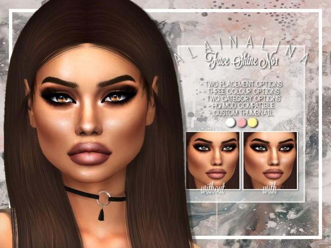 Face Shine No1 at AlainaLina image 2981 670x503 Sims 4 Updates